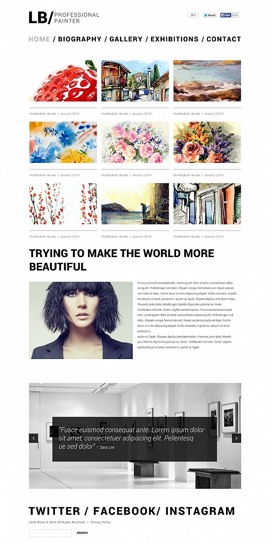 Artist Portfolio Flash CMS Template