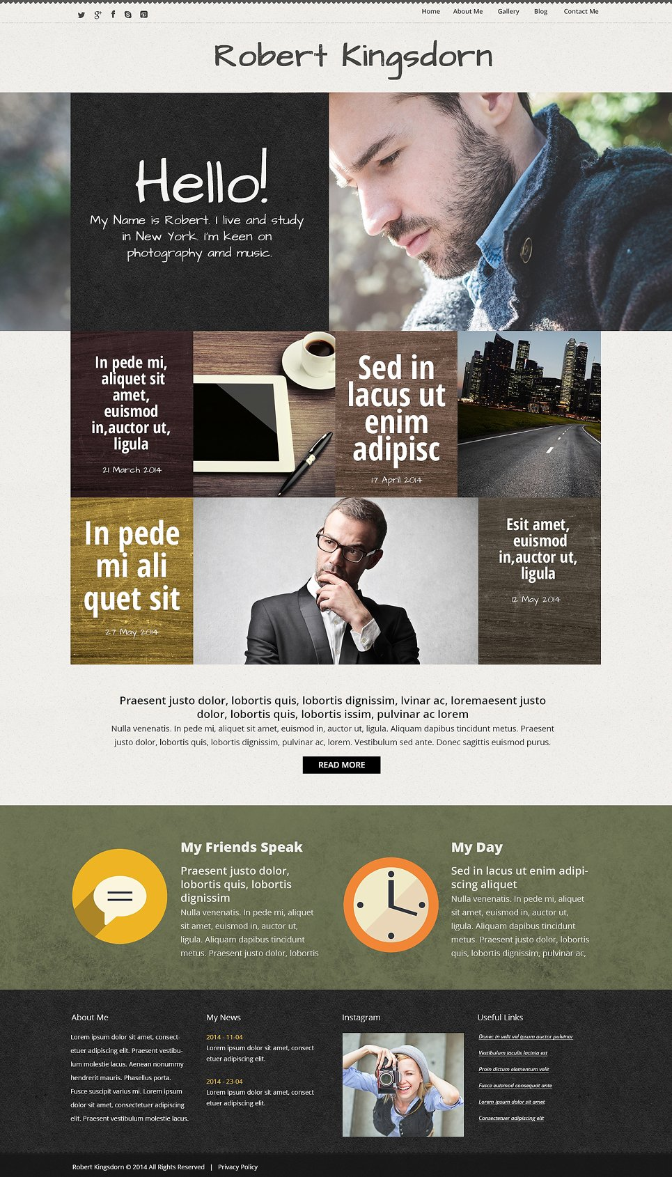 Personal Career Page WordPress Theme