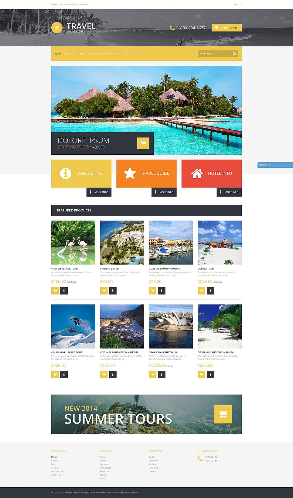 Travel Destinations Shopify Theme 50767