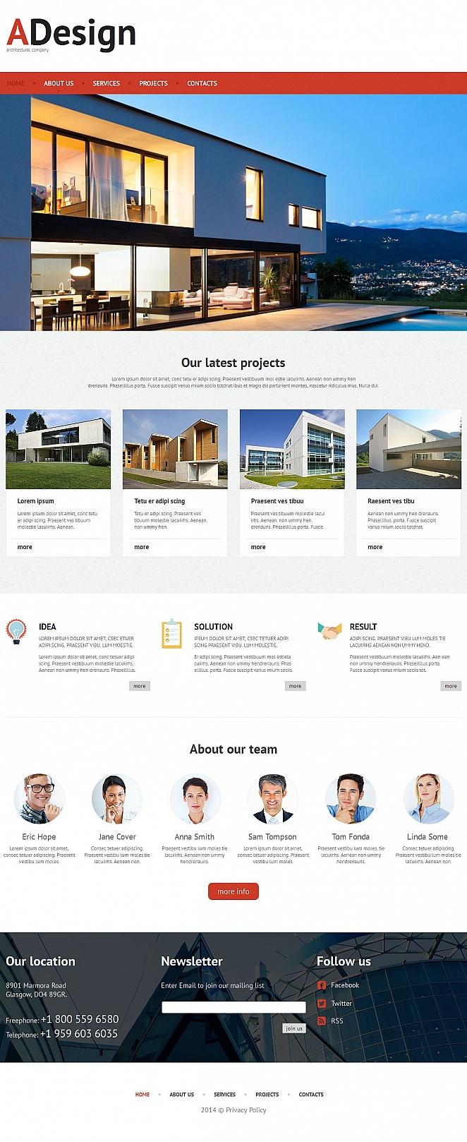 Architecture Design Website Template - image