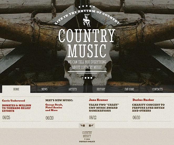 Homepage-Vorlage zum Thema Country-Musik - image