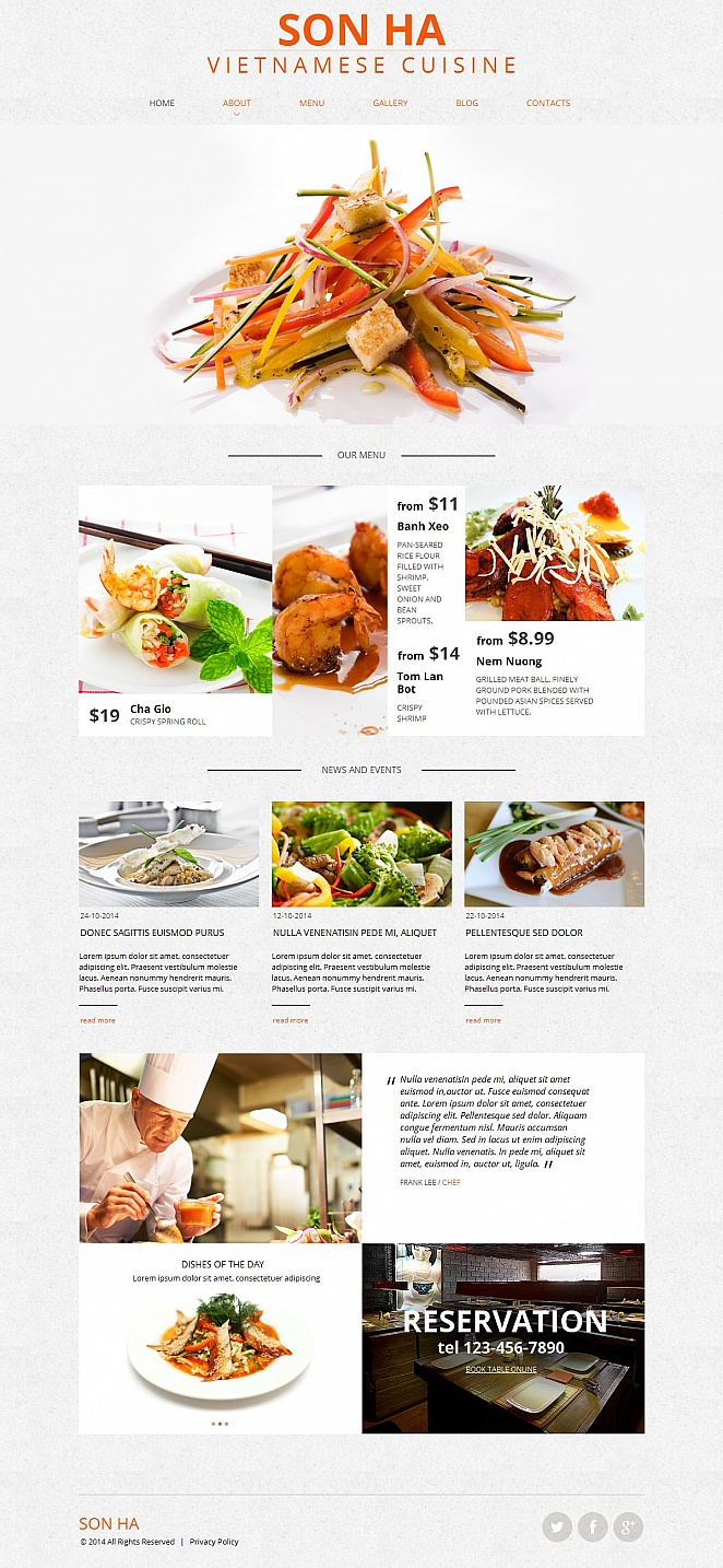 Homepage-Vorlage für ein vietnamesisches Restaurant - image