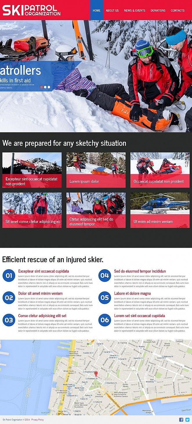 Winter Sports Website Template - image