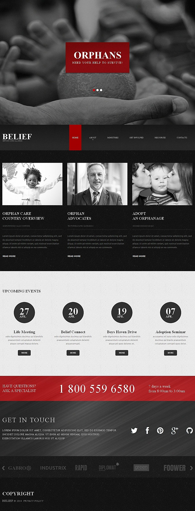 Black Website Template for Charities - image