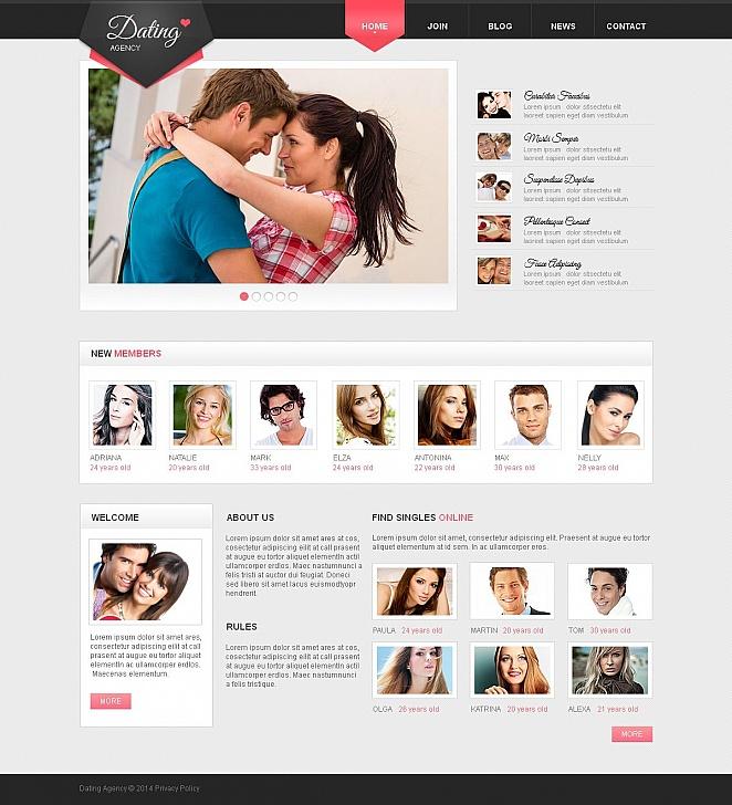 MotoCMS HTML Шаблон #50847 из категории Знакомства - image