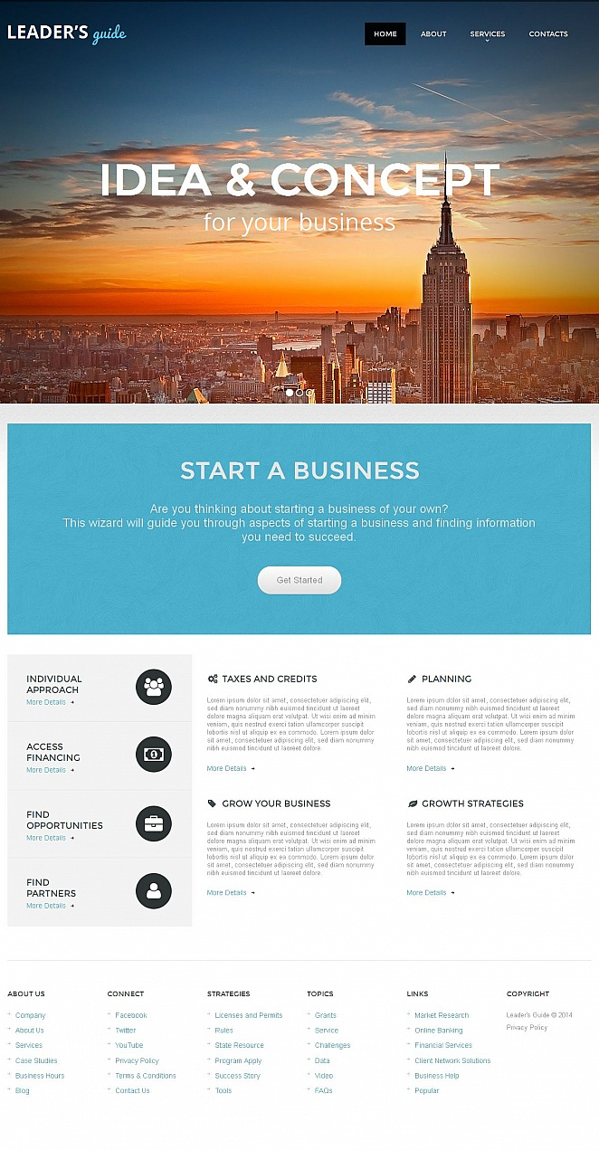 Business Web Template with Image Slider Above the Fold - image