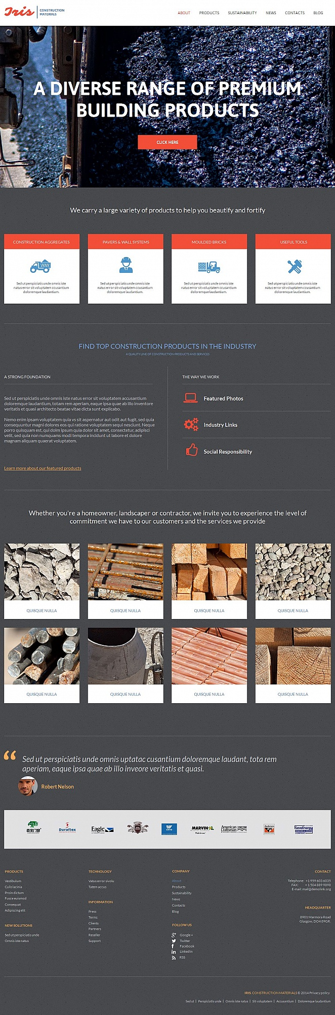 Construction and Materials Website Template - image