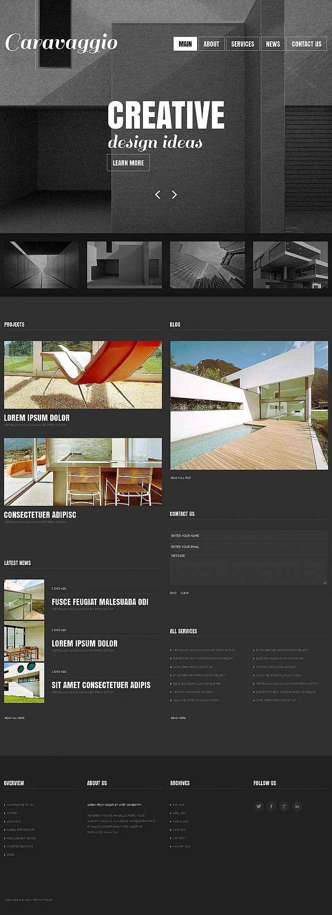 Architecture Website Template with Gray Background - image