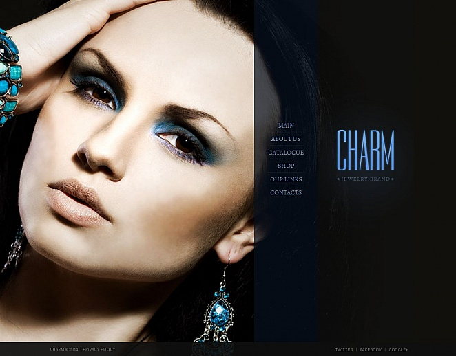 Jewelry Website Template with Royal Blue Design - image