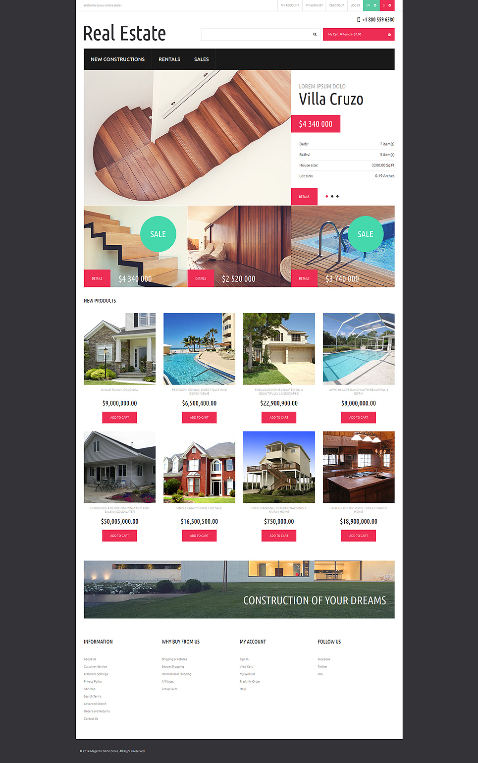 Reliable Real Estate Magento Theme