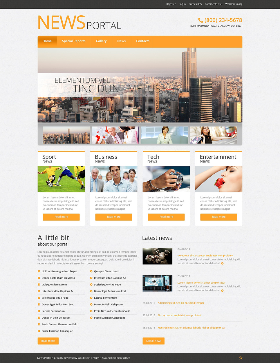 News Portal Wordpress Theme Templates Buy Website Templates Web
