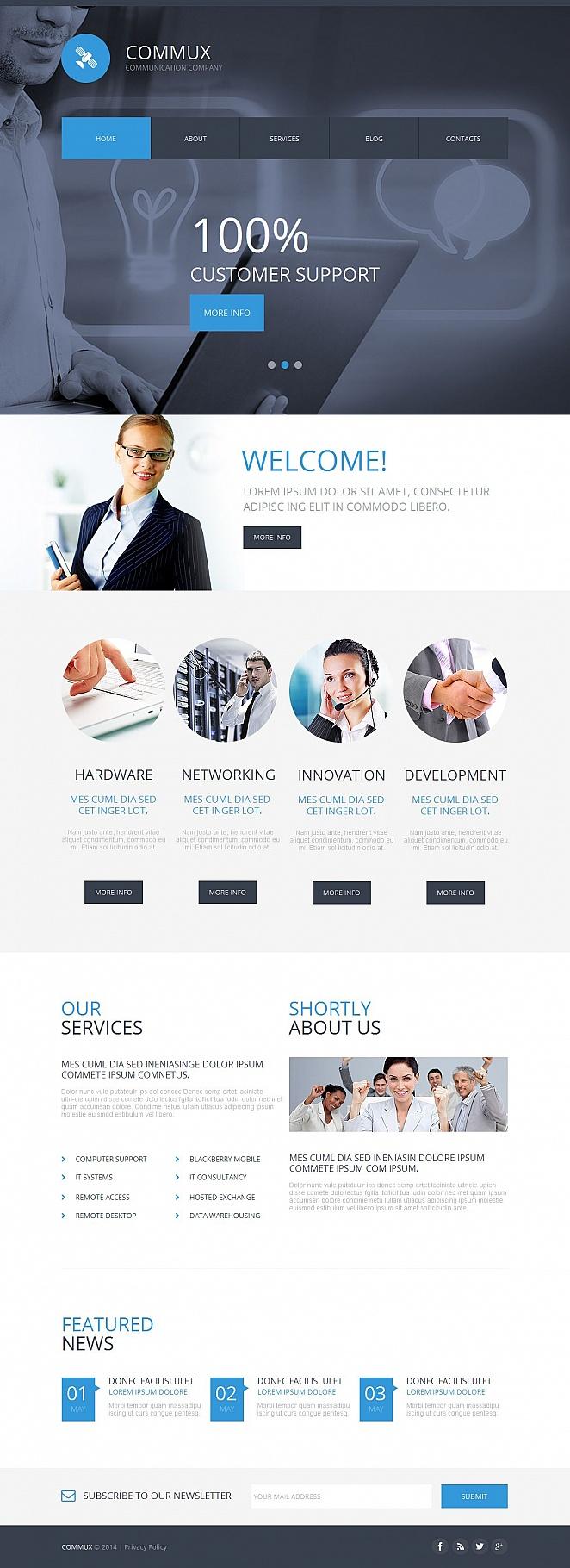MotoCMS HTML Szablon #51067 z kategorii Komunikacja - image