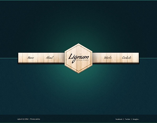 Design Website Template with Wood Texture Menu Panel - image