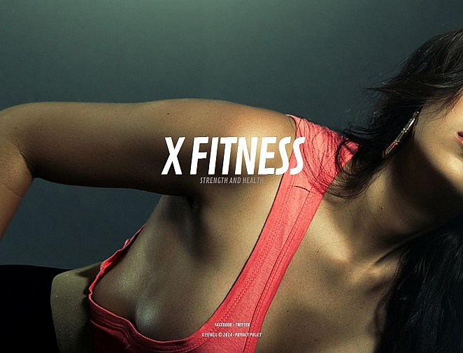 Fitness Center Website Template - image