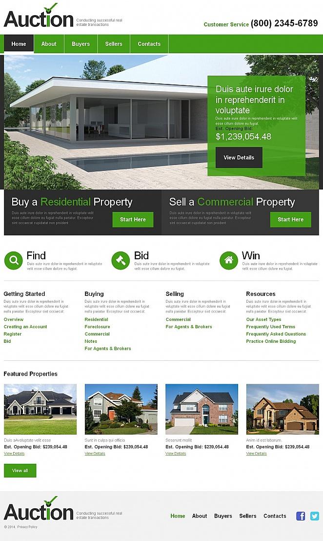MotoCMS HTML Шаблон #51159 из категории Недвижимость - image