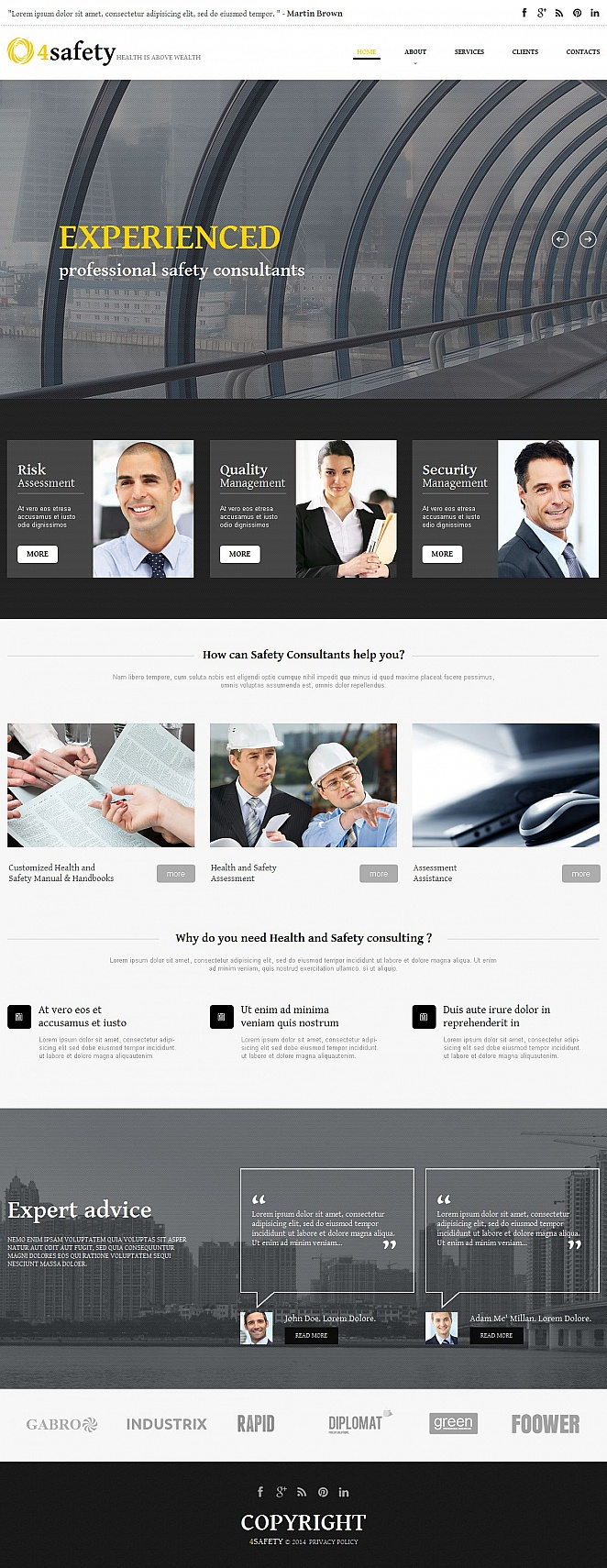 Safety Consulting Website Template - image