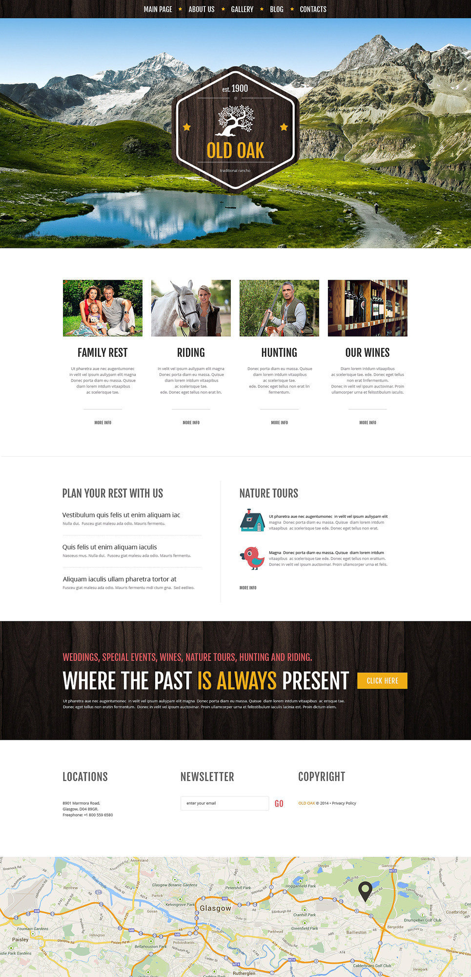Favorable Ranch Location Wordpress Theme 51223