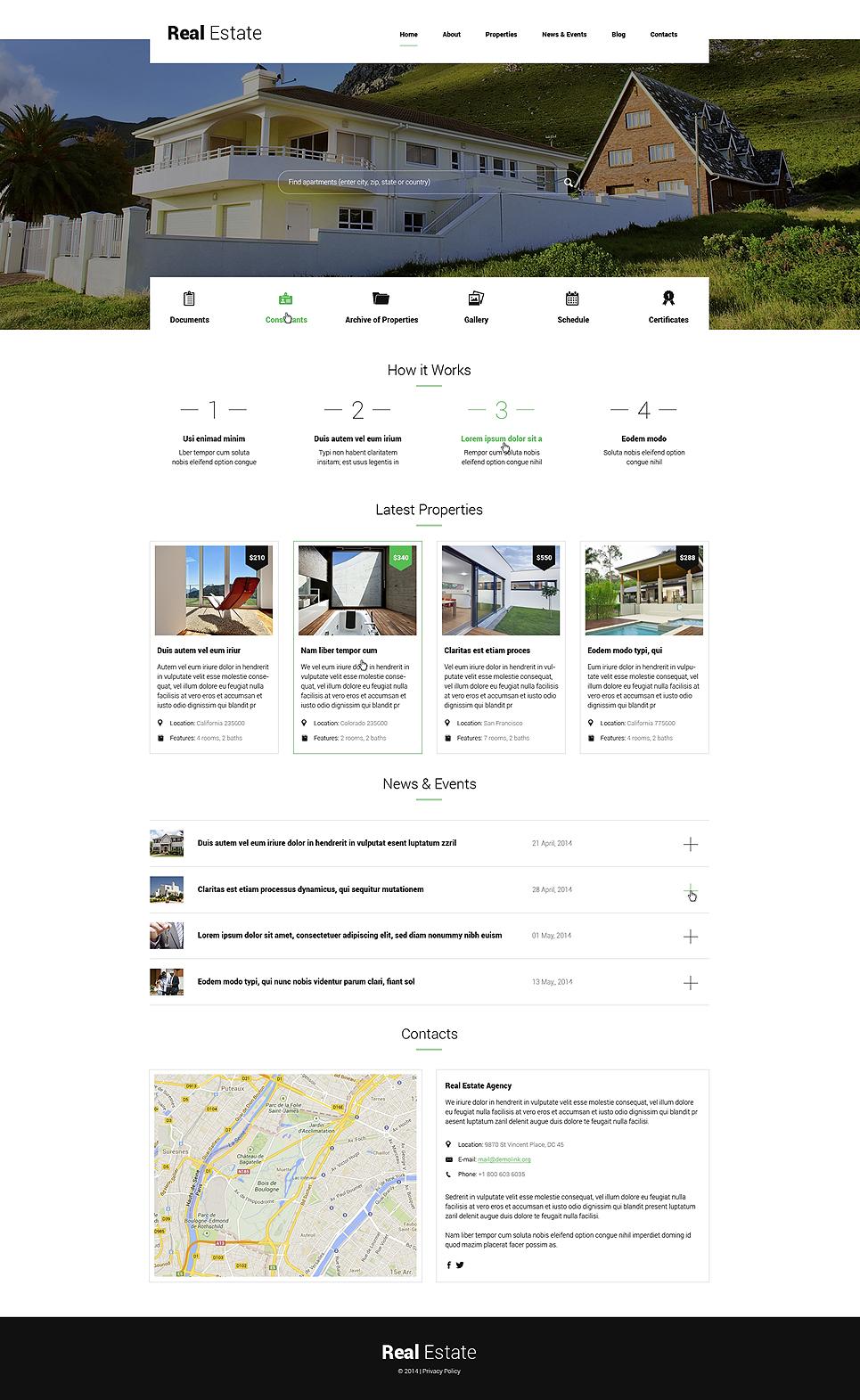 Renting Apartments WordPress Theme