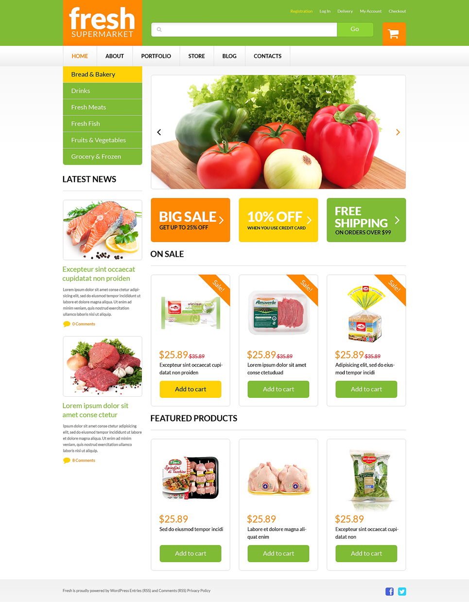 Grocery web shop woocommerce theme 51254 for Price your home online