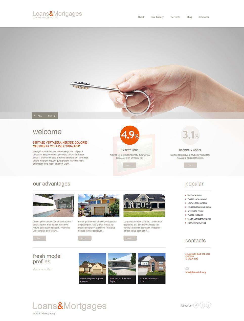 Mortgage WordPress Theme