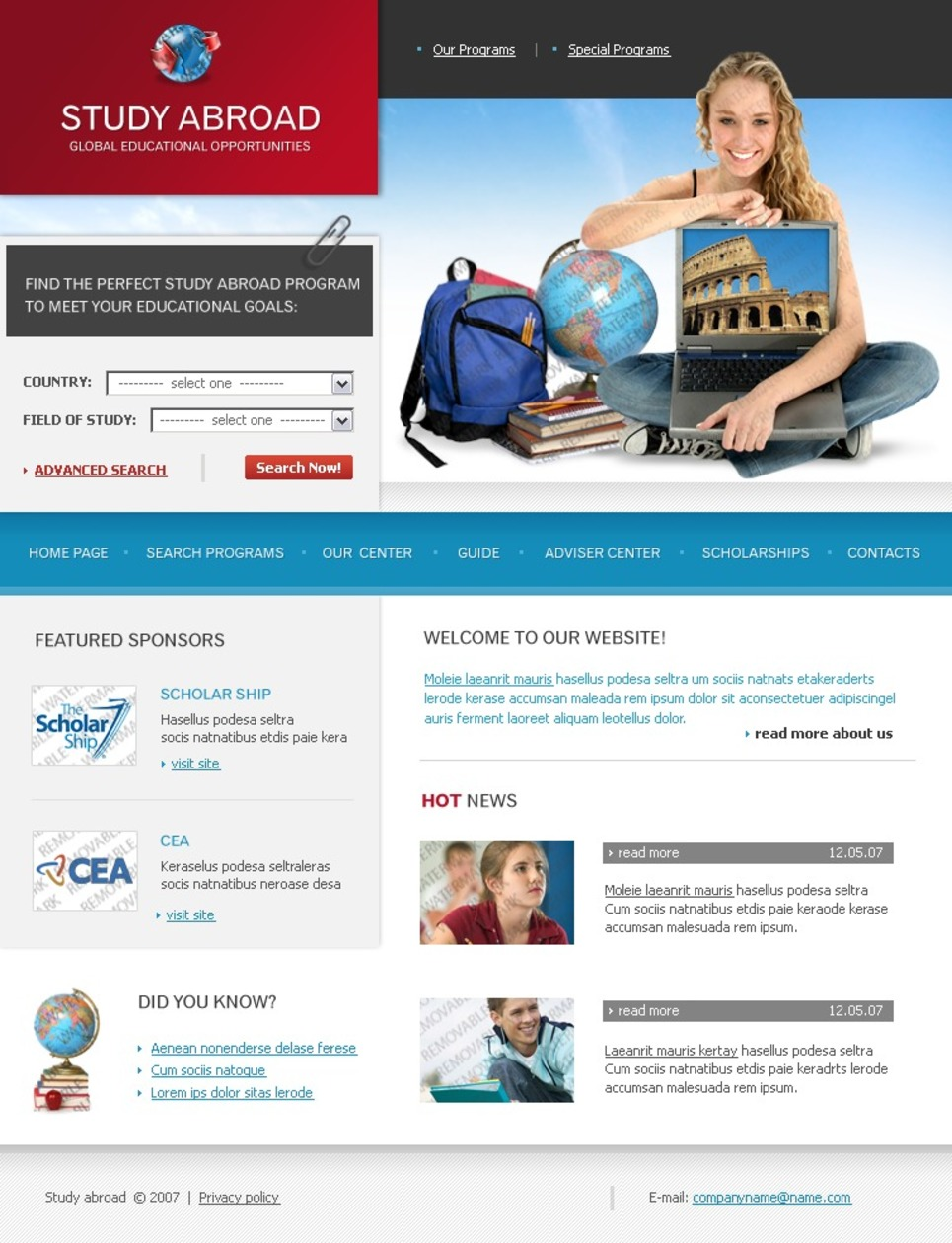 Free Web Site Templates Flash