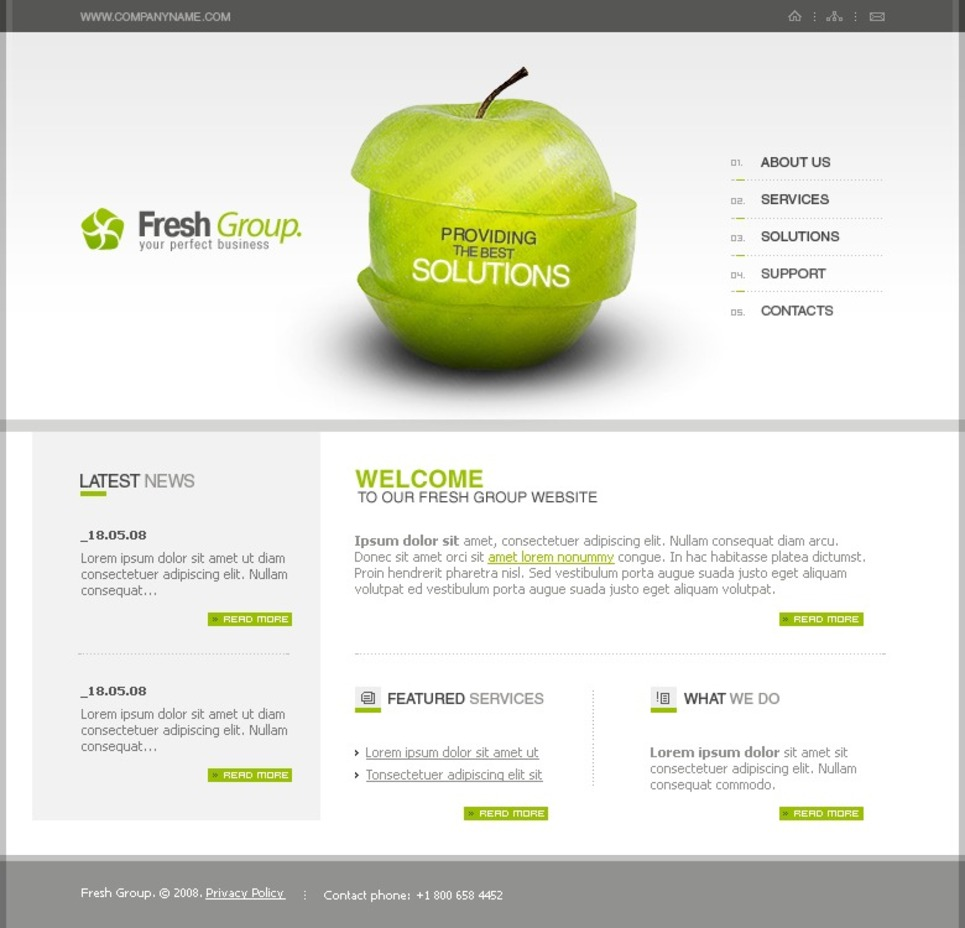 Free Flash 8 Templates (Flash Animated) Website Template New Screenshots BIG