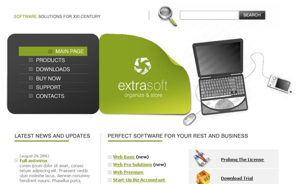 Free 3 Color Web Templates Website Template New Screenshots BIG