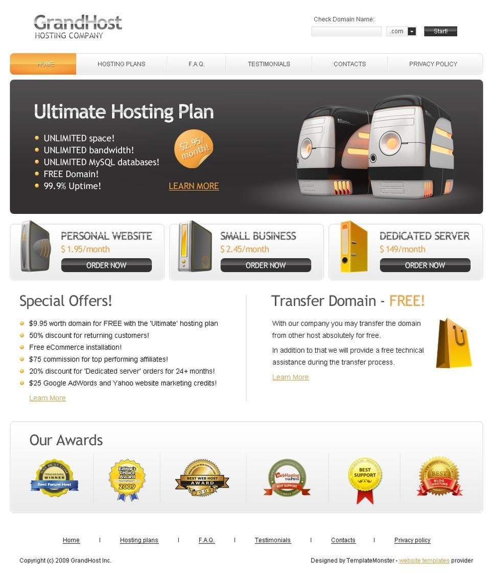 Free Hosting Website Template Website Template New Screenshots BIG