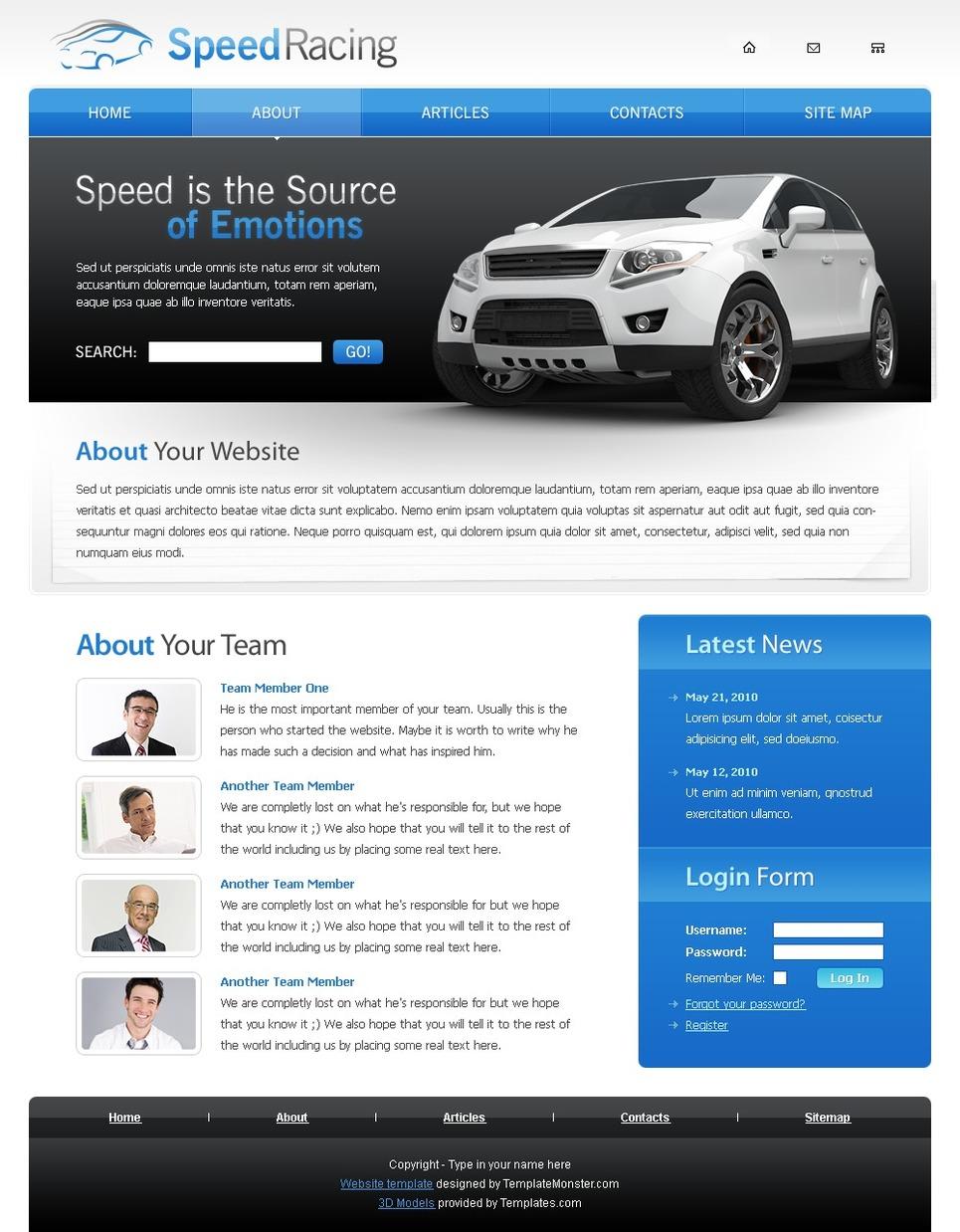 Racing Website Template Website Template New Screenshots BIG