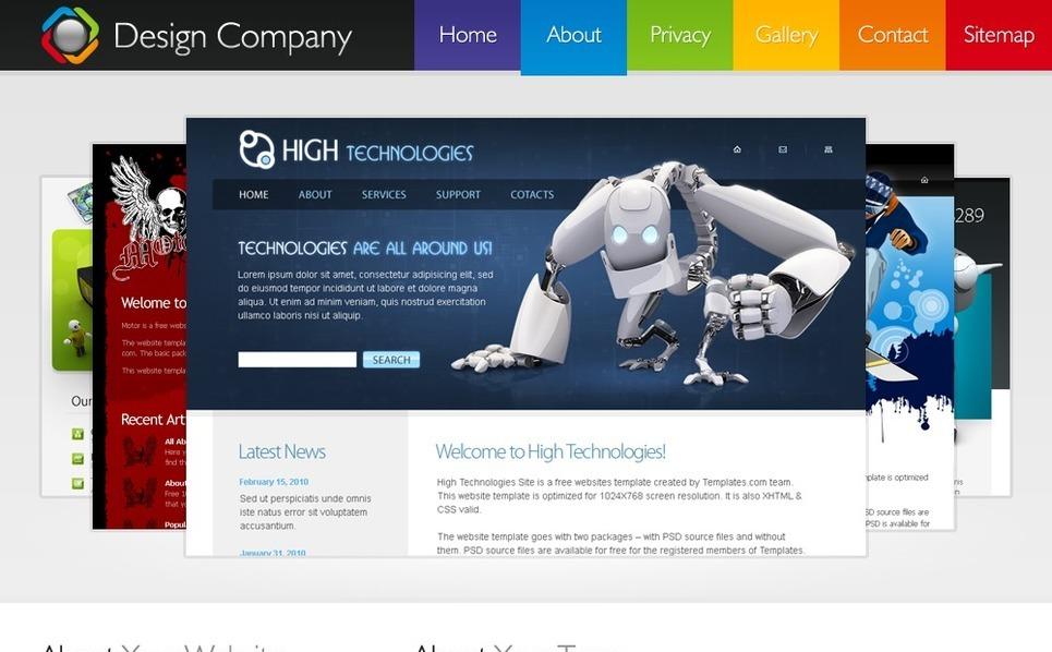 Free HMTL5 Template Website Template New Screenshots BIG