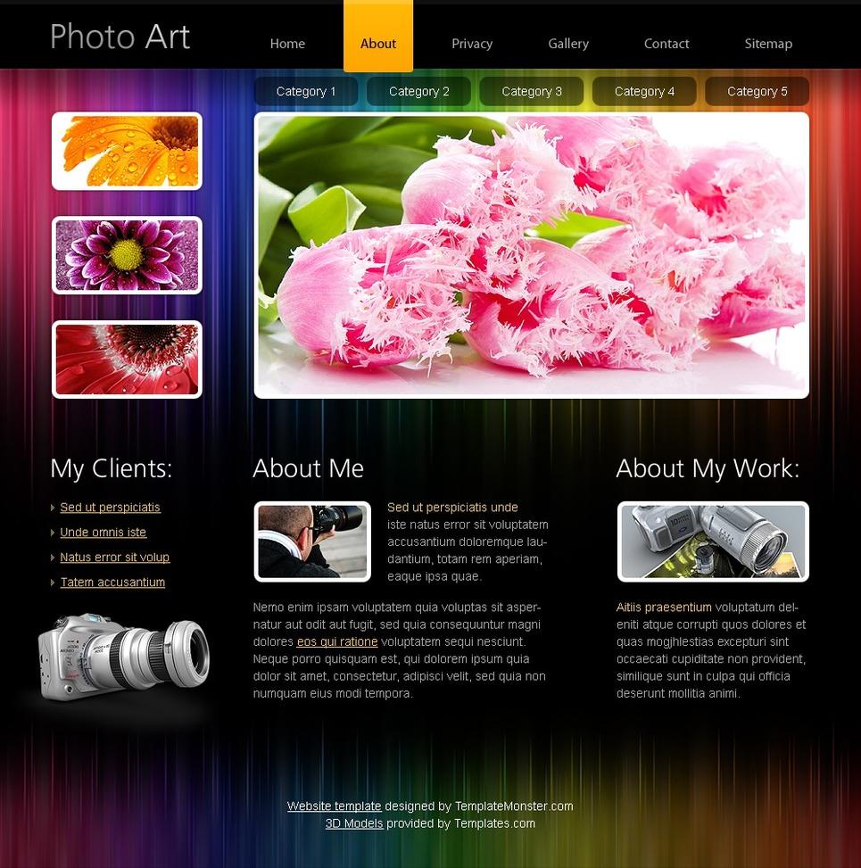 Free HTML5 Website Template - Photo Portfolio Website Template New Screenshots BIG