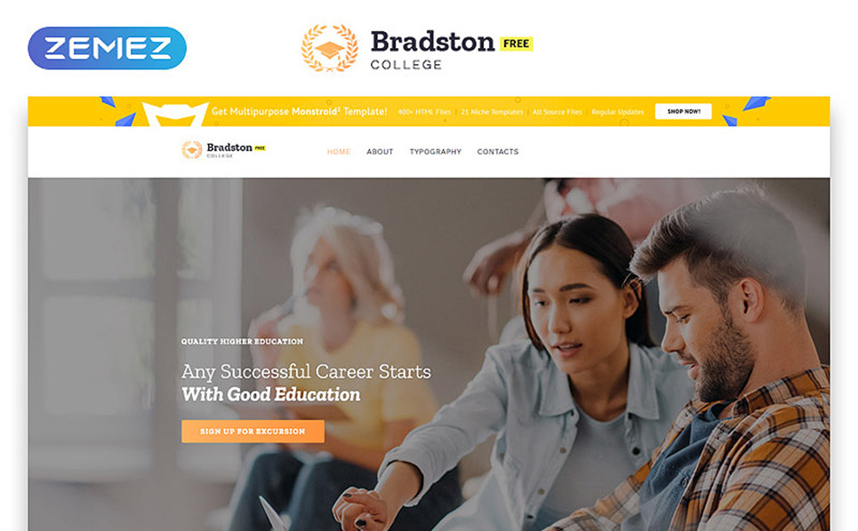 Free Education Website Template Website Template New Screenshots BIG