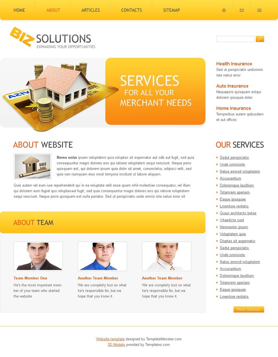 Free Business Solutions Website Template Website Template New Screenshots BIG