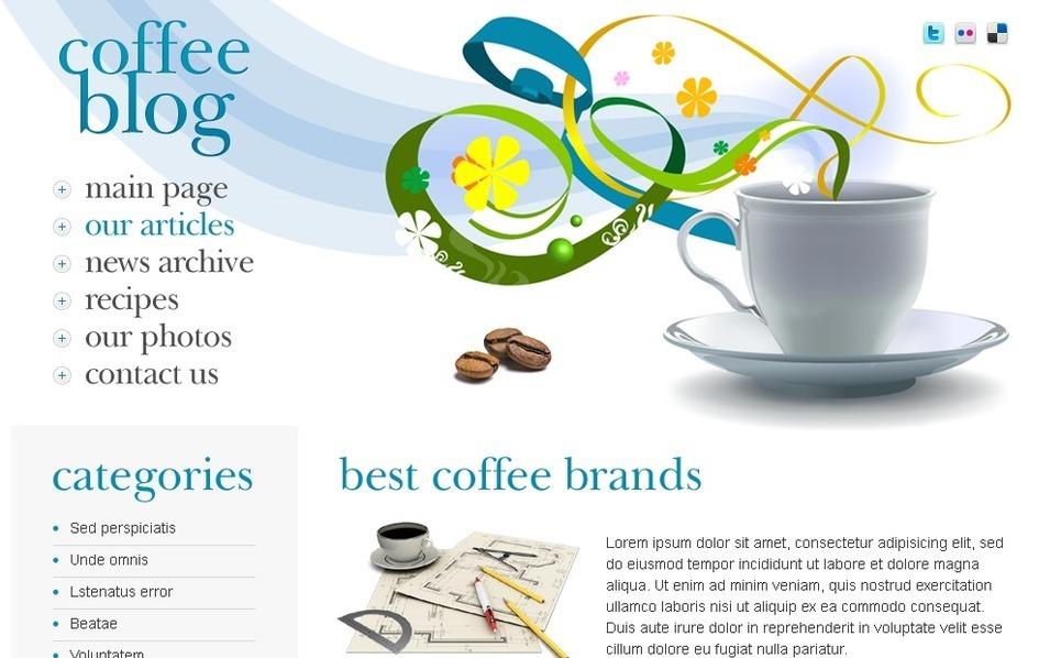 Free WordPress Theme - Coffee Blog WordPress Theme New Screenshots BIG
