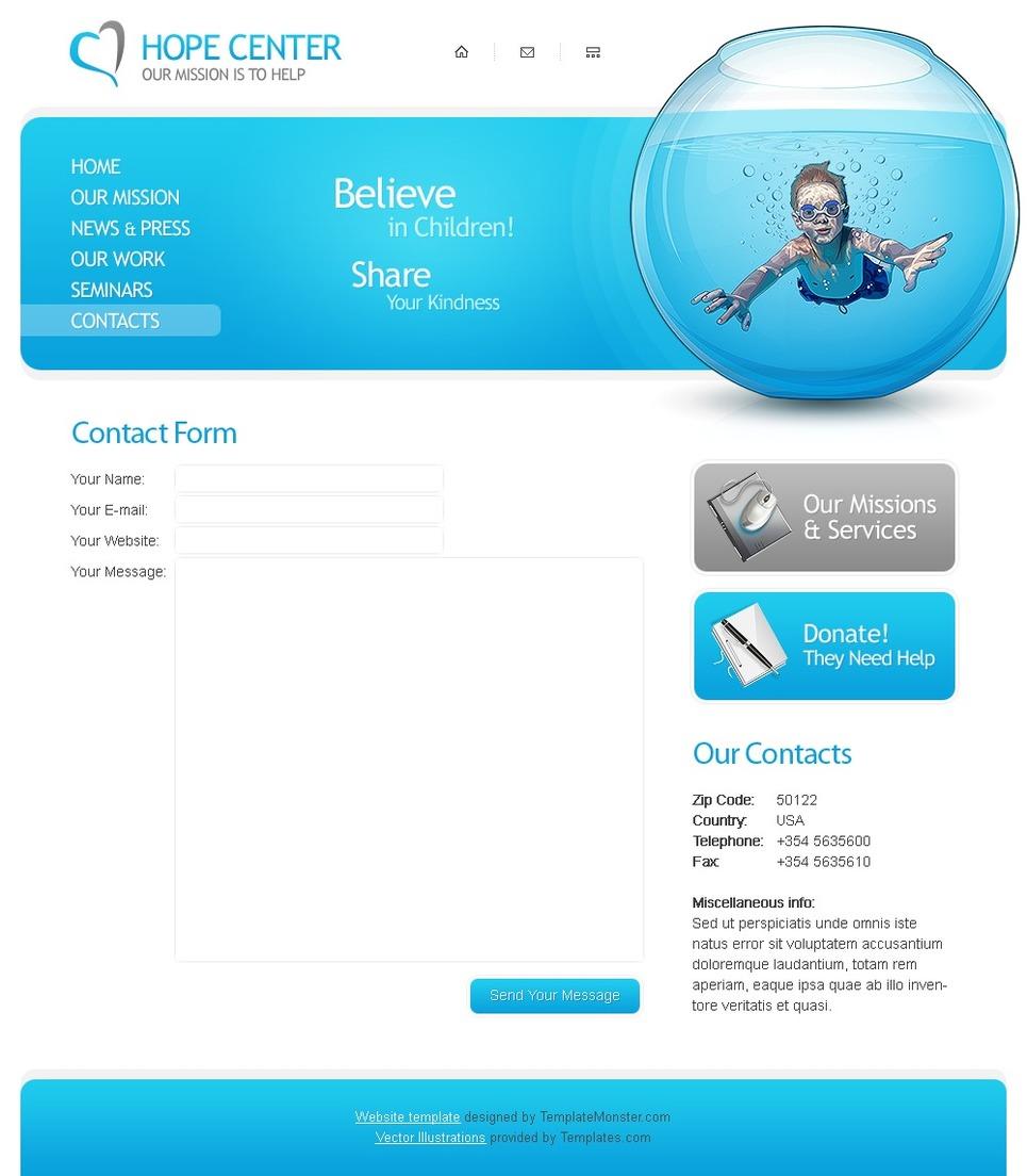 Templatemonster website template #14626 (incl