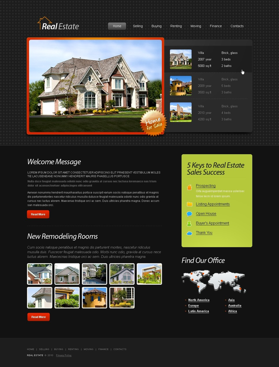 Free HTML5 Template - Real Estate Website Website Template New Screenshots BIG