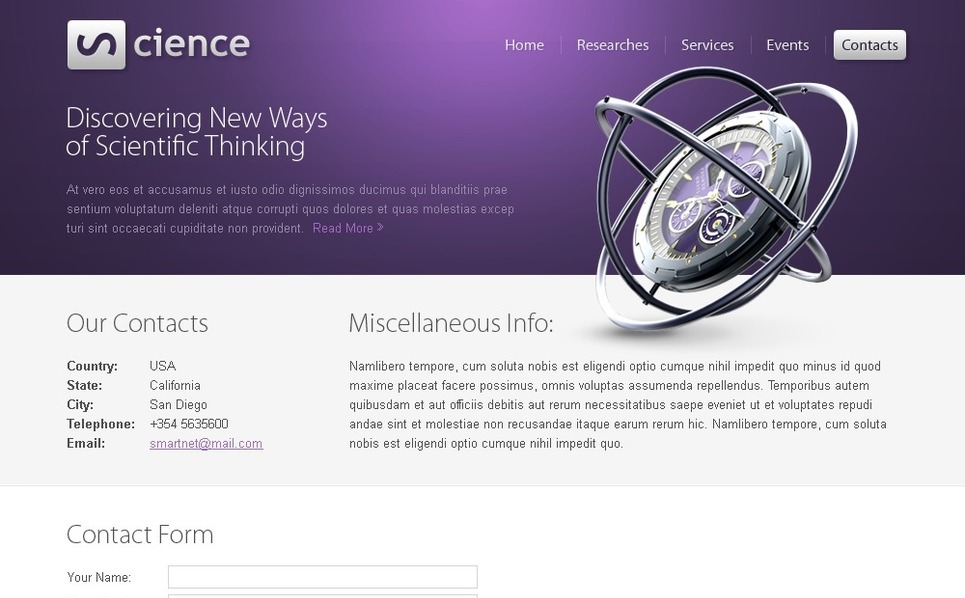 Free Science HTML5 Template Website Template New Screenshots BIG
