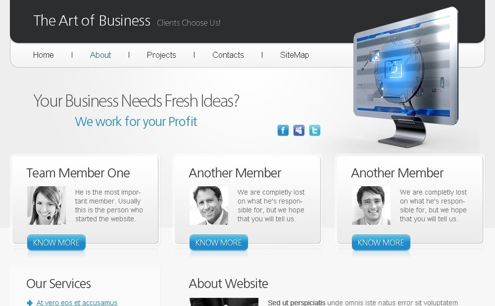 Free HTML5 Website Template - Art of Business Website Template New Screenshots BIG