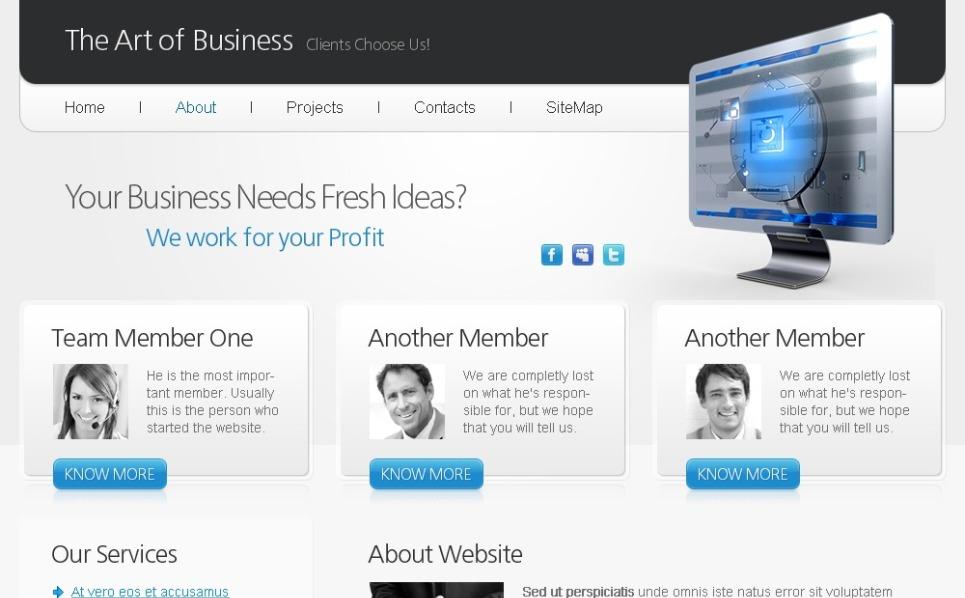 Free HTML5 Website Template Art Of Business Website Template Original Screenshot Wo Watermarks