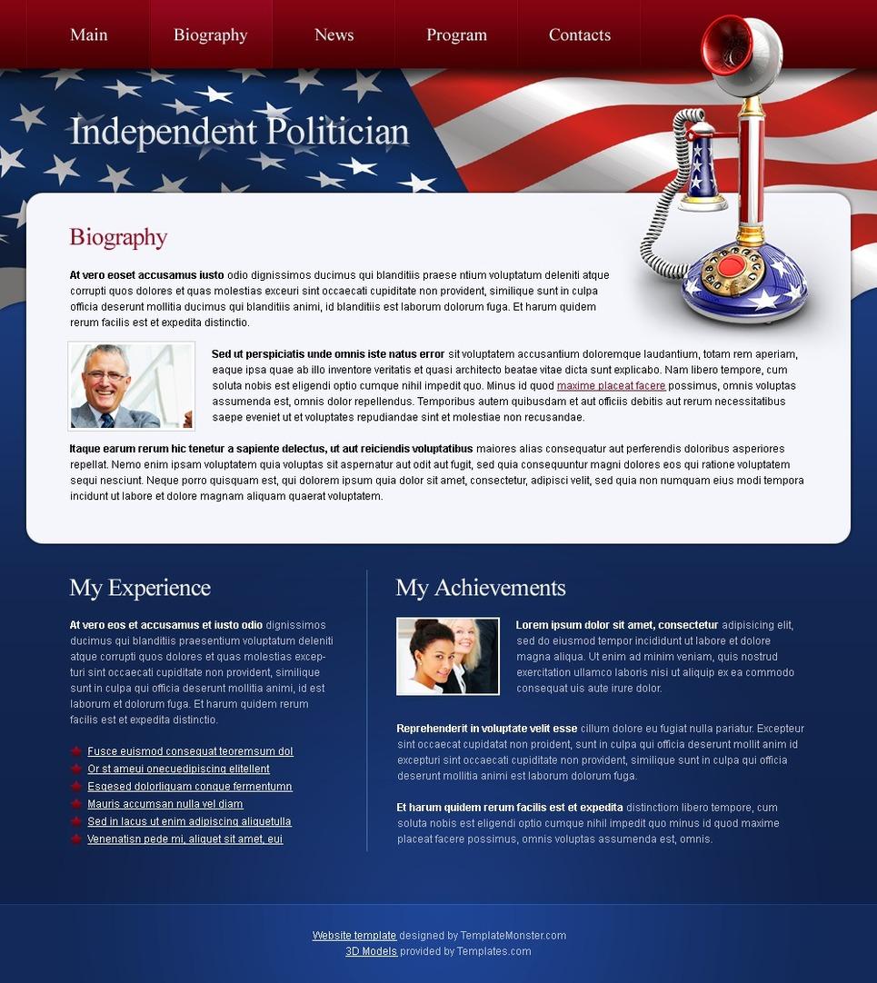 Free Politics Website Template Website Template New Screenshots BIG