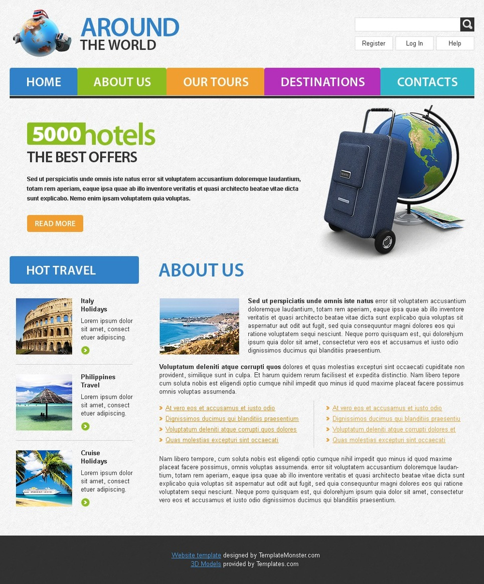 Free Travel Website Template Website Template New Screenshots BIG