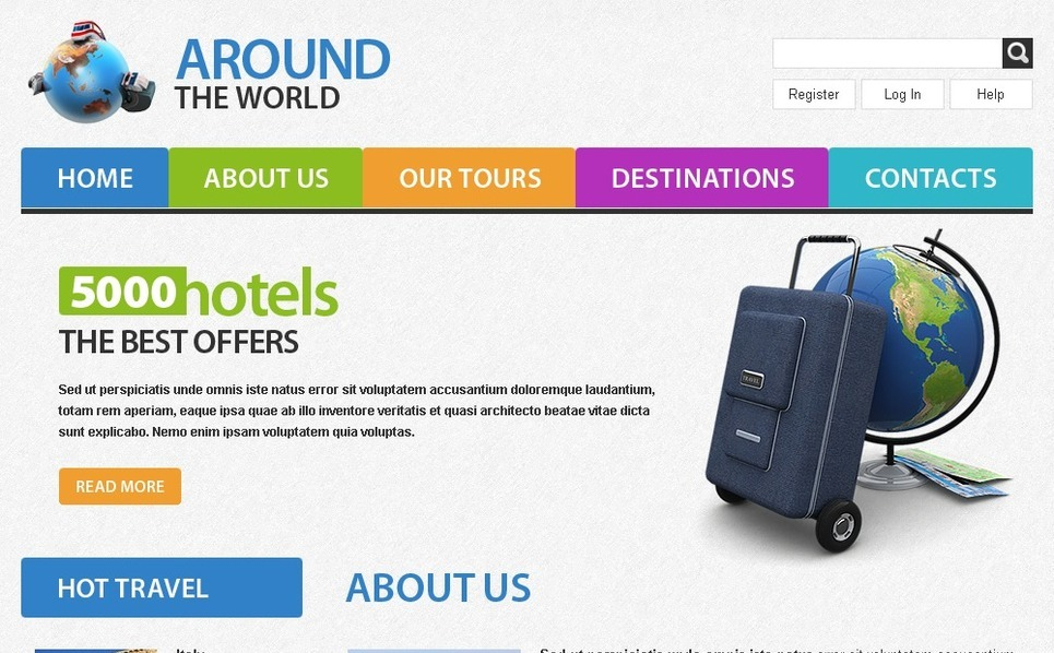 Free Travel Website Template Website Template New Screenshots BIG