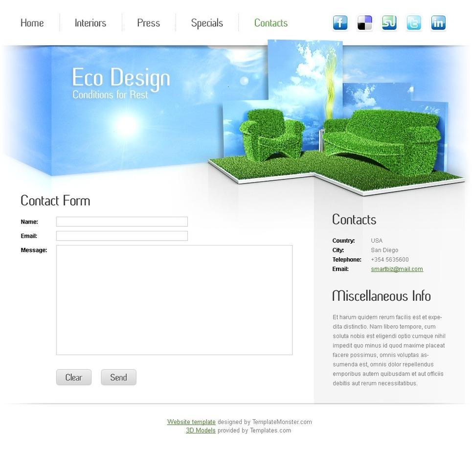 Free Furniture Website Template Website Template New Screenshots BIG