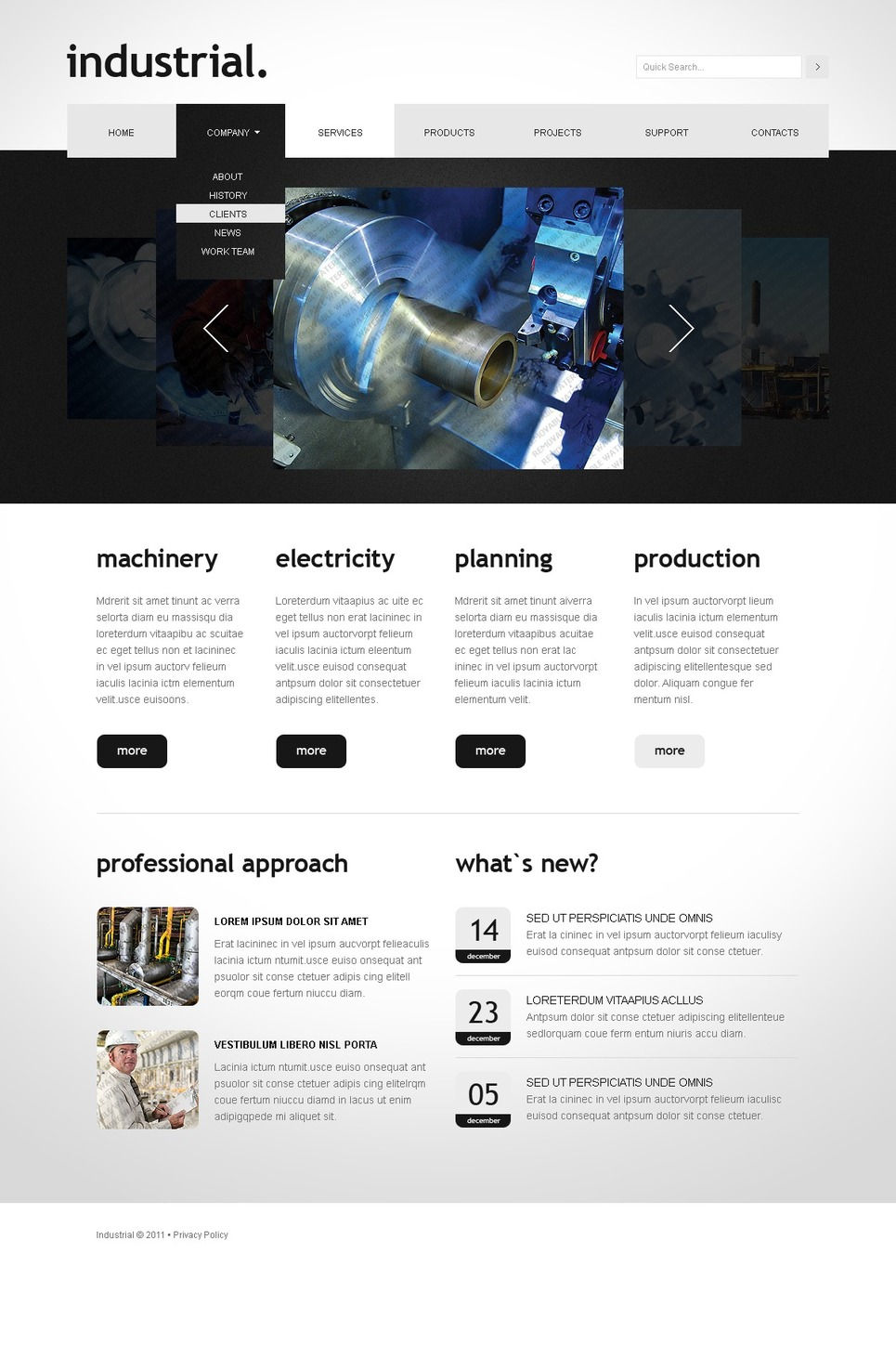 Free JavaScript-Animated Templates Website Template New Screenshots ...