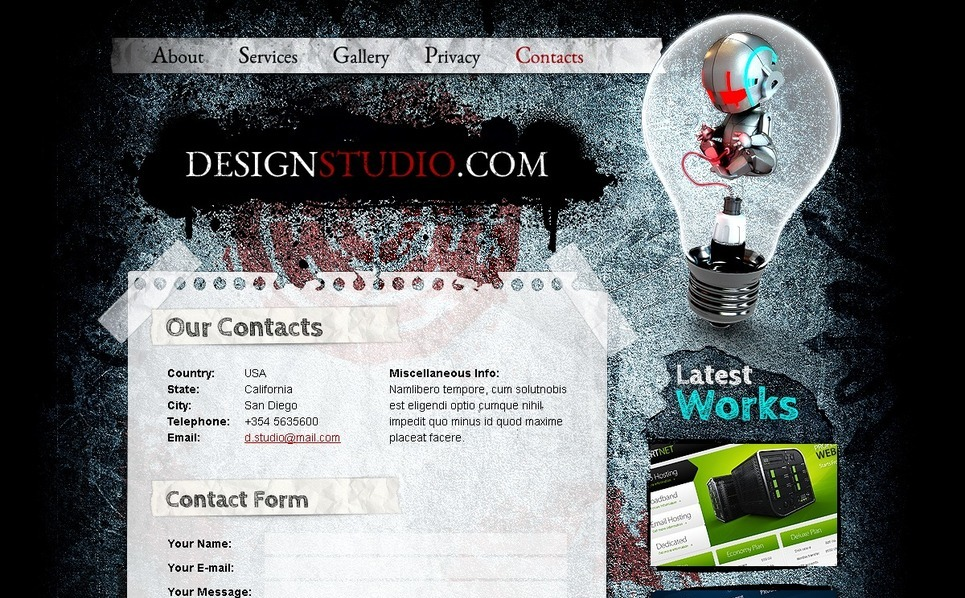 Free HTML Theme for Design Studio Website Template New Screenshots BIG