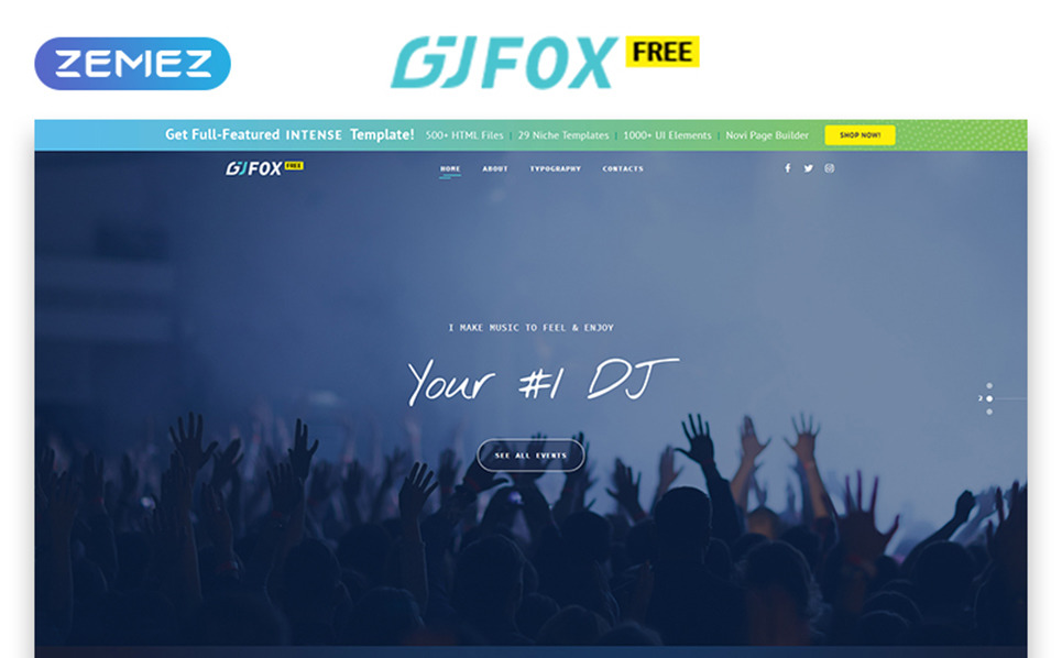 Free Music Website Template Website Template New Screenshots BIG