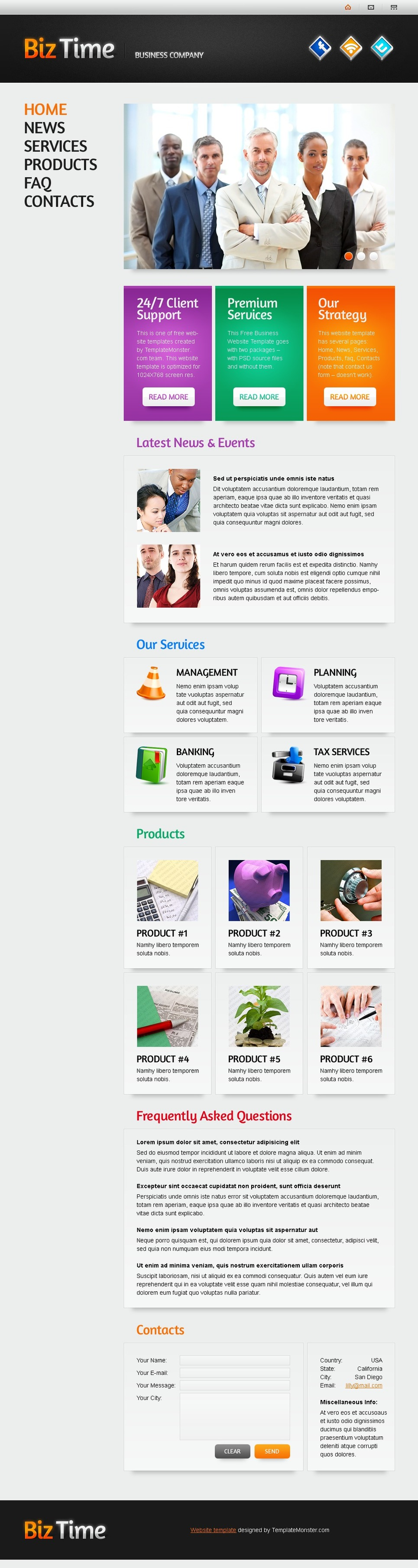 Free Website Template with Single Page Layout Website Template New Screenshots BIG