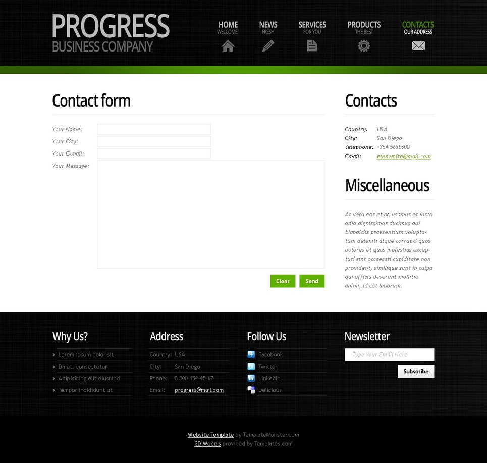 Free Business Website Template with Header Slider Website Template New Screenshots BIG