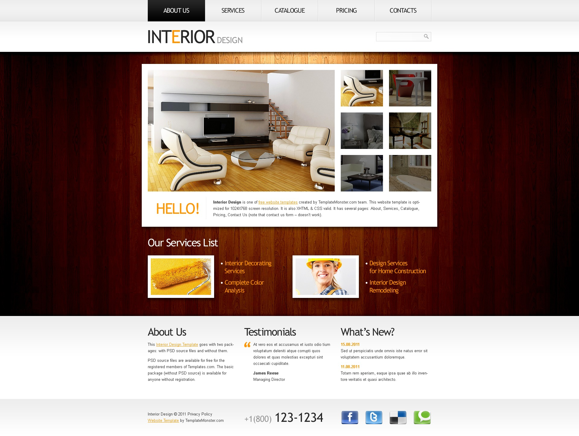 Home interior design templates home design and style for Good interior design websites