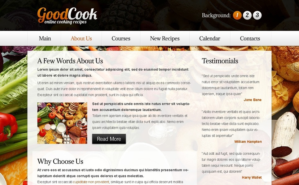 Free Template for Recipes Website - Background Website Template New Screenshots BIG